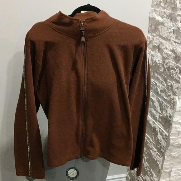 Moda Basics Thin Brown fleece zip-up